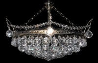 6 bulbs silver basket crystal chandelier with cut crystal balls II.