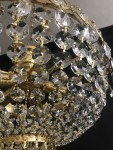 Detail of the crystal chandelier