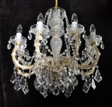 8 flames Maria Theresa crystal chandelier with cut  Pendeloques