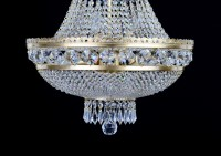 View of the lower part of the strass chandelier