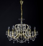 Gold Theresian light with strass crystals
