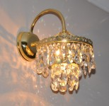 The  lit 1 Arm crystal wall light with metal arm in Interior