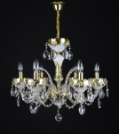 Luxurious white crystal chandelier painted with 24K gold
