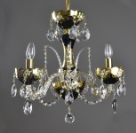 small black crystal chandelier with flowers