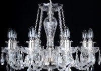 8 Arms Crystal chandelier made of hand cut leaded crystal glass