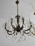 Brown metal crystal chandelier