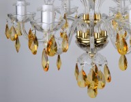 Yellow crystal ceiling light