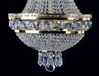 Detail of cut stones in the bottom of a chandelier