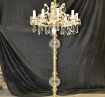 The 10 flames high  Maria Theresa Floor lamp with the crystal spike