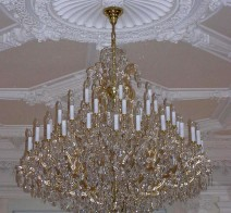 The 48 flames Maria Theresa chandelier - Gold brass (Extended)