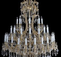 Comparison of two great Theresian chandeliers:  Almonds VS French pendeloques