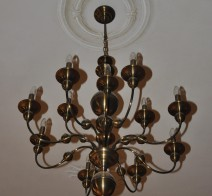 Dutch chandeliers made of manually pressed stained brass parts ANTIK