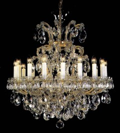 The massive Maria Theresa crystal chandelier for sale