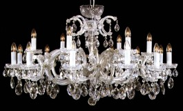 Large wide Maria Theresa Chandelier 18 candle bulbs