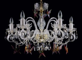 Design chandelier with glass butterflies