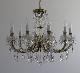 Luxury 8 Arms Crystal cast brass chandelier - Gold brass & PK500 hand cut