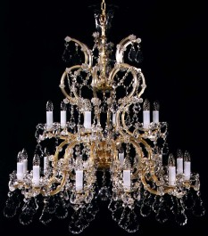 18 flames Maria Theresa crystal chandelier with Pendeloques