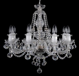 8 Arms small crystal chandelier with cut crystal balls