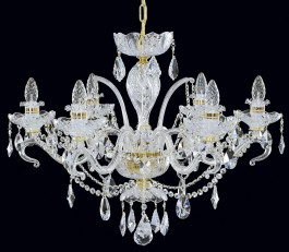 Smaller Bohemian crystal chandelier 6 arms