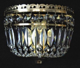 Smaller strass wall light