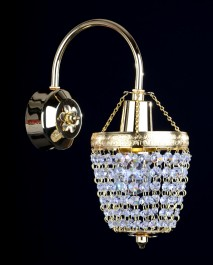 1 Arm crystal wall light with metal arm & Strass crystal chains