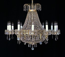 18-bulb Luxury basket chandelier made of cast gold brass
