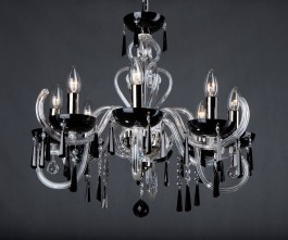 Chandelier for ceiling mounting in bedrooms or a modern interior.