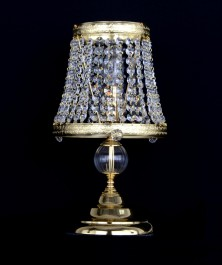 Decorative Strass crystal table lamp with one candle bulb