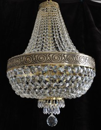 5-bulbs Basket crystal chandelier