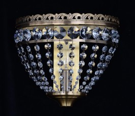 1 Bulb basket Strass crystal wall light ANTIK - Swarovski (surface-mount)