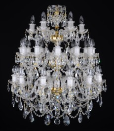 30 Arms luxury Crystal chandelier with twisted glass arms & Cut almonds