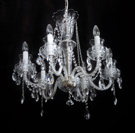 Small Bohemian crystal chandelier 6 arms