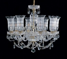 8-arm Czech crystal chandelier BOHEMIA CRYSTAL