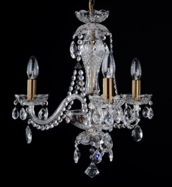 3 Arms crystal chandelier with crystal almonds