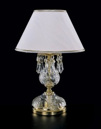 Decorative lamp with the white lampshade