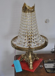 1 Bulb Cast brass Strass crystal table lamp