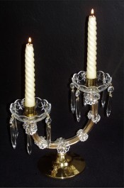 Maria Theresa lamp for two candles to illuminate the festive table.