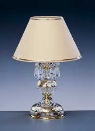 Table crystal lamp Gold Enamel