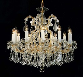 13 light crystal chandelier Maria Theresa