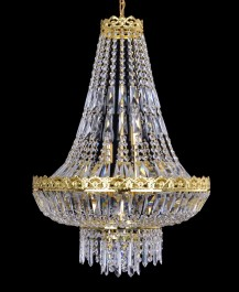 Larger crystal basket light