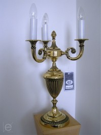 3 Arms Cast brass crystal table lamp