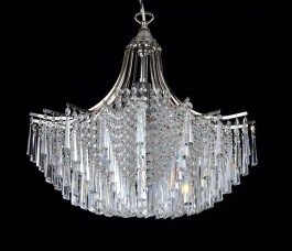 Decorative Bohemian crystal chandelier