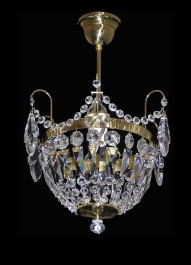The small crystal basket lamp with pendeloques