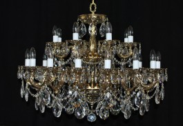 24 Arms Cast brass chandelier