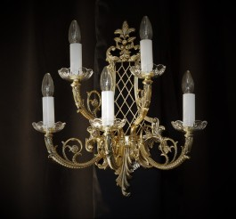 Large luxury wall light with five arms