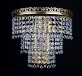 1 Bulb basket Strass crystal wall light ANTIK  (surface-mount)