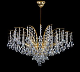 Chandelier in the shape of a royal crown with Presiosa drops.