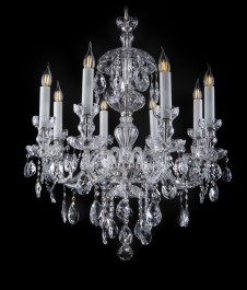 Antique looking Bohemian crystal chandelier