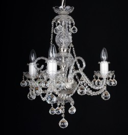 3 Arms small  crystal chandelier with cut crystal balls