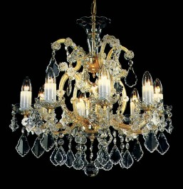 Medium-sized Theresian chandelier with 8 candle bulbs